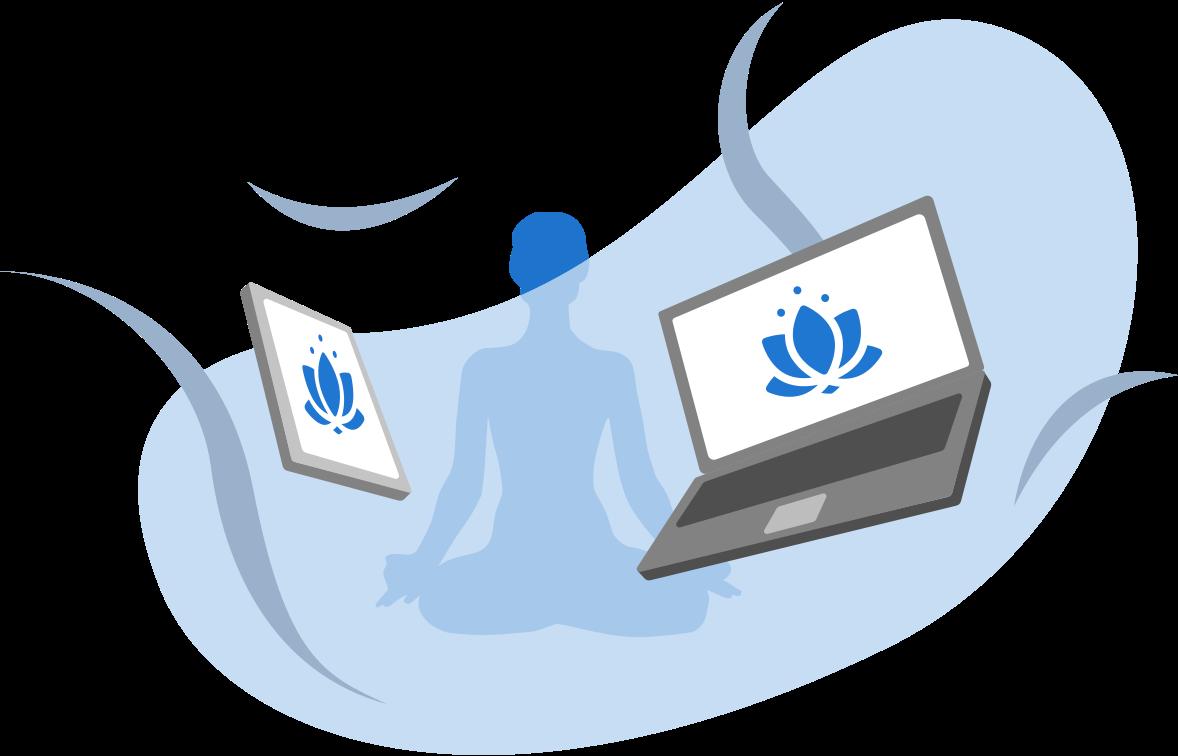 illustration ordinateur zen